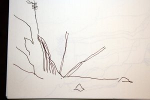 Kreidefelsen schneller Eindruck 1 (c) Skizze von Susanne Haun