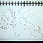 Engel Skizze (c) von Susanne Haun