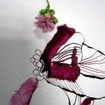 Ich wähle eine kleine Büte aus (c) Foto und Zeichnung von Susanne Haun