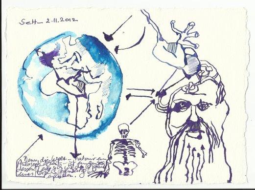 Die Welt ist ein ganzes (c) Zeichnung von Susanne Haun