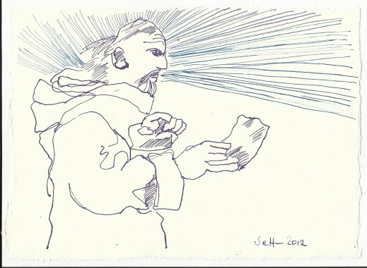 Blatt 58 Auf meine Anordnung hin (c) Zeichnung von Susanne Haun