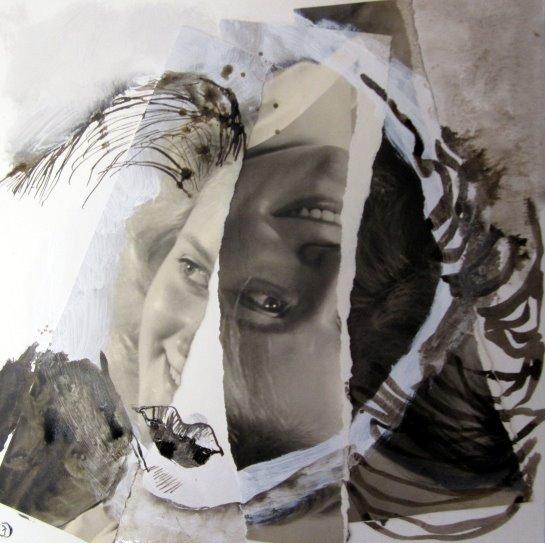 Blatt 6 ZerissenBlatt 5 25 x 25 cm (c) Collage von Susanne Haun