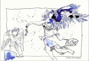 Das Geheimnisvolle - Zeichnung von Susanne Haun
