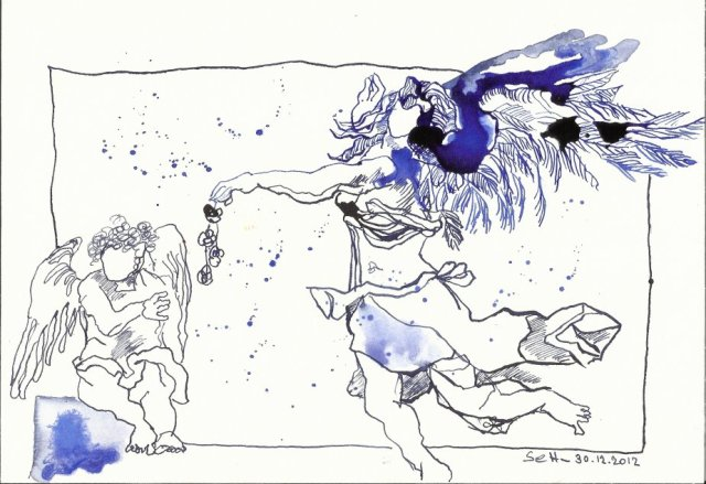 Blatt 1 Das Geheimnisvolle - Zeichnung von Susanne Haun