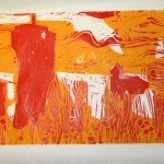 Zustandsdruck gelbe und rote Platte (c) Foto von Susanne Haun