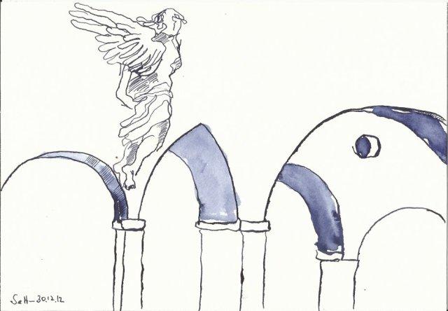 Blatt 2 Das Geheimnisvolle - Zeichnung von Susanne Haun