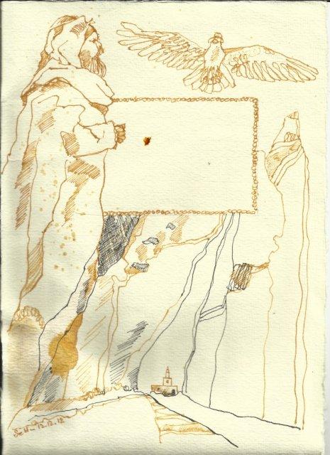 Titelrahmen Version 2 Zustand 2 (c) Zeichnung von Susanne Haun