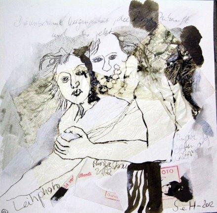 Blatt 12 Leihphoto 25 x 25 cm (c) Collage von Susanne Haun