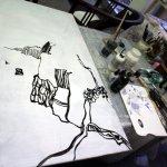Entstehung - Am Rande der Klippen (c) Leinwand von Susanne Haun