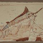 14 Das Wasser strömte ihn von den Seiten (c) Zeichnung von Susanne Haun