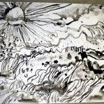 Tagsüber im Schlund des Meeres - 70 x 100 cm (c) Leinwand von Susanne Haun