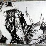 Entstehung - Ein Dämon werde ich, sobald ich erwache (c) Leinwand von Susanne Haun