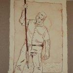 25 Der alte Mann stieß das Messer (c) Zeichnung von Susanne Haun
