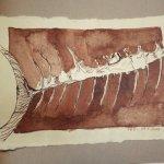 29 Tiburón sagte der Kellner (c) Zeichnung von Susanne Haun