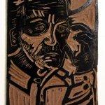 Linolplatte Mann (c) von Susanne Haun