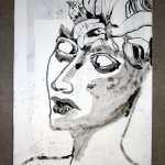 Entstehung der steinernen Tränen Leinwand 100 x 50 cm (c) Susanne Haun