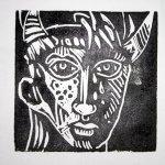 Das Endprodukt - 15 x 15 cm (c) Linoldruck von Susanne Haun