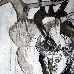 Die lichtlose Ecke des Herzens 80 x 60 cm (c) Leinwand von Susanne Haun