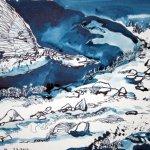 Der Wilde Fluss, 30 x 40 cm Tusche auf Bütten (c) Zeichnung von Susanne Haun