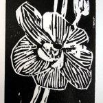 Druck des letzten Zustands der Holzplatte (c) Holzschnitt von Susanne Haun