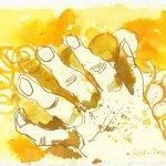 Blatt 86 Das Gesicht will ich mir mit Goldstaub einreiben (c) Zeichnung von Susanne Haun