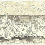 Blatt 118 Die Macht der Natur (c) Zeichnung von Susanne Haun