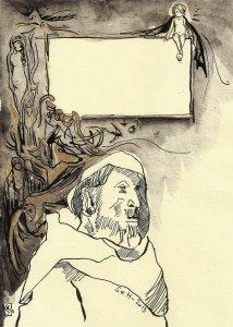 Blatt 3 Titelrahmen die Versuchung des heiligen Antonius (c) U.Schätzmüller u. S. Haun
