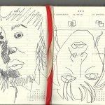 16. Woche Selbstportrait (c) Zeichnung von Susanne Haun