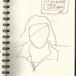 2 Im Zug (c) Zeichnung von Susanne Haun