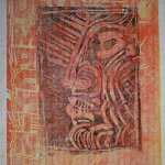 Varianten von Deus Ex Machina (c) Linolschnitt von Susanne Haun