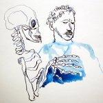 Der Tod greift nach Lassalle (c) Zeichnung von Susanne Haun
