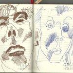 Selbstportrait Tagebuch 18. Woche (c) Zeichnungen von Susanne Haun