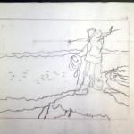 Jagender Inuit (c) Zeichnung von Susanne Haun