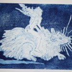 Ratten und Frauen verlassen das sinkende Schiff - Version 2 (c) Radierung von Susanne