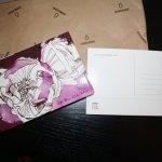 Neue Postkarte mit Blume von mir für Postcrossing (c) Foto von Susanne Haun