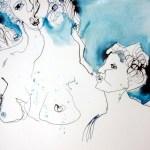 Detail Die Engel machten die Seelen (c) Zeichnung von Susanne Haun