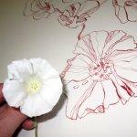 Entstehung Fallende Blumen (c) Zeichnung von Susanne Haun