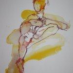 Üppiger Akt - liegend - 40 x 30 cm - Version 1 (c) Zeichnung von Susanne Haun