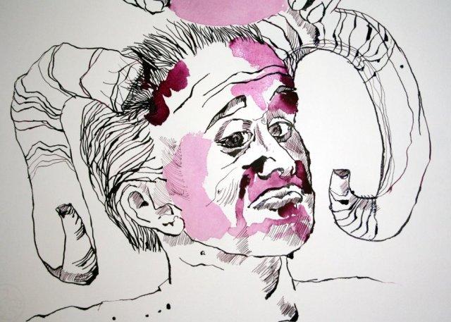 Der Teufel (c) Zeichnung von Susanne Haun