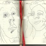 Selbstportrait Tagebuch 42. Woche (c) Zeichnung von Susanne