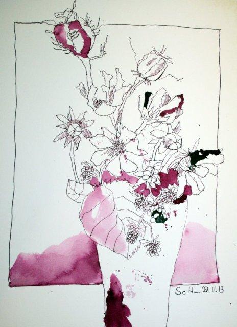 Erholung - 40 x 30 cm (c) Zeichnung von Susanne Haun