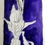 Enzian - Version 2 - 32 x 24 cm - Tusche auf Bütten (c) Zeichnung von Susanne Haun