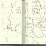 Selbstportrait Tagebuch November Übersicht (c) Zeichnung von Susanne Haun