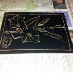 Eingerollte Linolplatte von G. Druck von L.'s Fisch (c) Foto von Susanne Haun