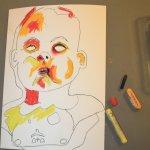Die Farben setze ich schnell und expressiv (c) Zeichnung von Susanne Haun