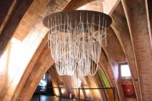 Kettenmodel der Sagrada Familia von Gaudi (c) Foto von Susanne Haun