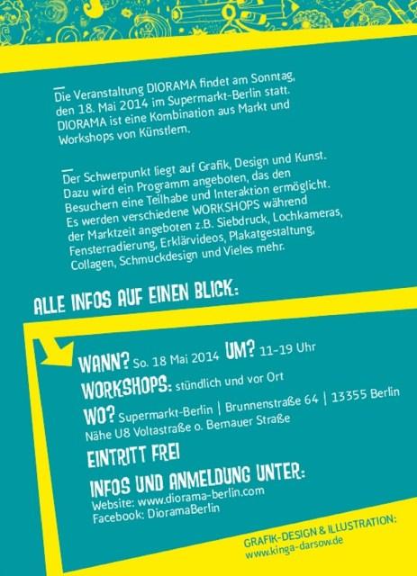 Diorama Flyer Sonntag, den 18. Mai 2014