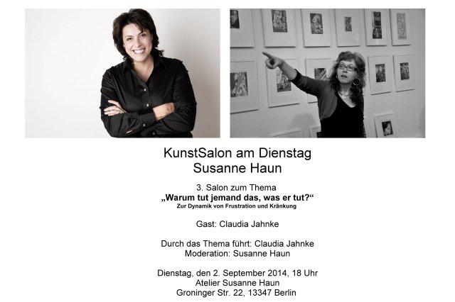 Salon Einladung Gast Claudia Jahnke