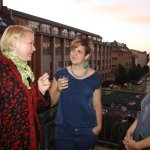 In der Pause auf dem Balkon (c) Foto von Susanne Haun