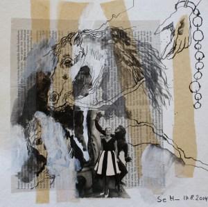 Blatt 41 - Die Vier Sklaven des Königs - 25 x 25 cm (c) Collage von Susanne Haun